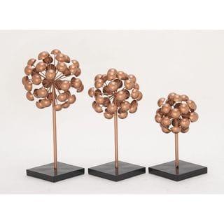 Classy Metal Copper Sculpture (Set Of 3)
