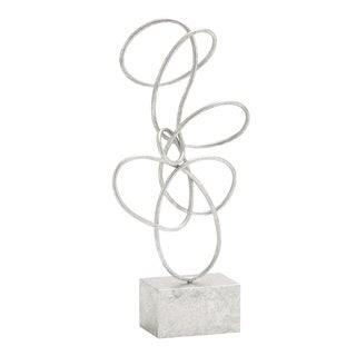 Unique And Exquisite Themed Metal Silver Abstract Sculpture