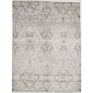 Hand-knotted with Modern Design Area Rug (5' 9 x 7' 9)