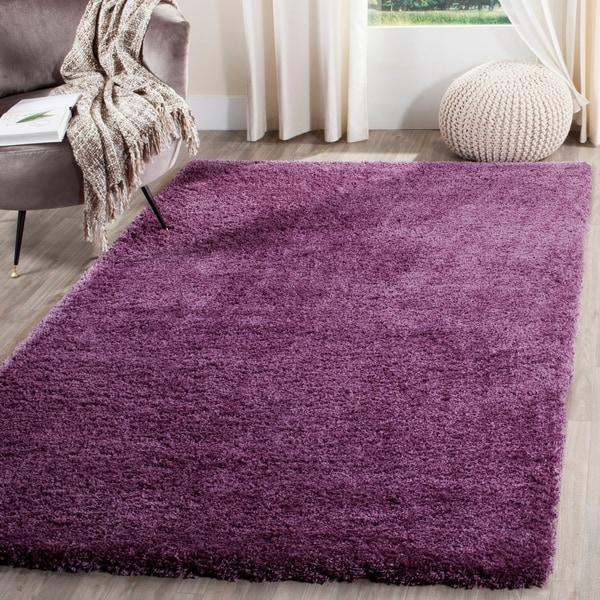 Safavieh Reno Shag Purple Polyester Rug - 9' x 12'