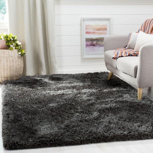 Safavieh Supreme Shag Dark Grey Polyester Rug (8' x 10')
