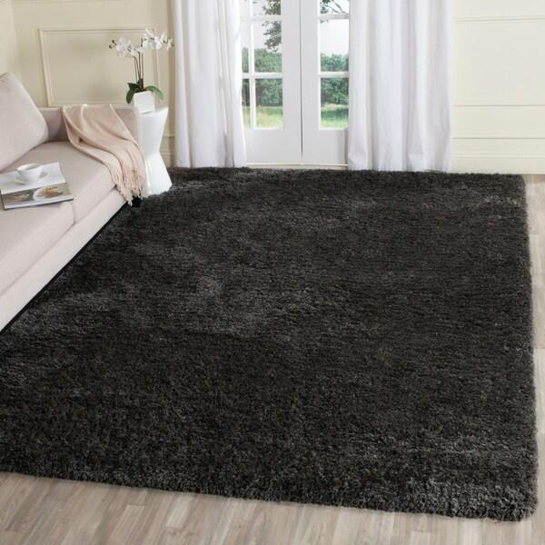 Safavieh Supreme Shag Dark Grey Polyester Rug - 8' x 10'