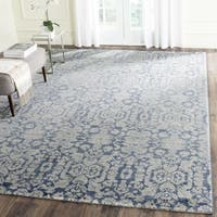 Safavieh Sofia Vintage Damask Blue/ Beige Distressed Rug (8' x 10')