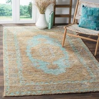 Safavieh Hand-Knotted Tangier Seafoam/ Beige Wool Rug (8' x 10')