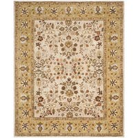 Safavieh Hand-hooked Total Perform Ivory/ Gold Acrylic Rug (8' x 10')