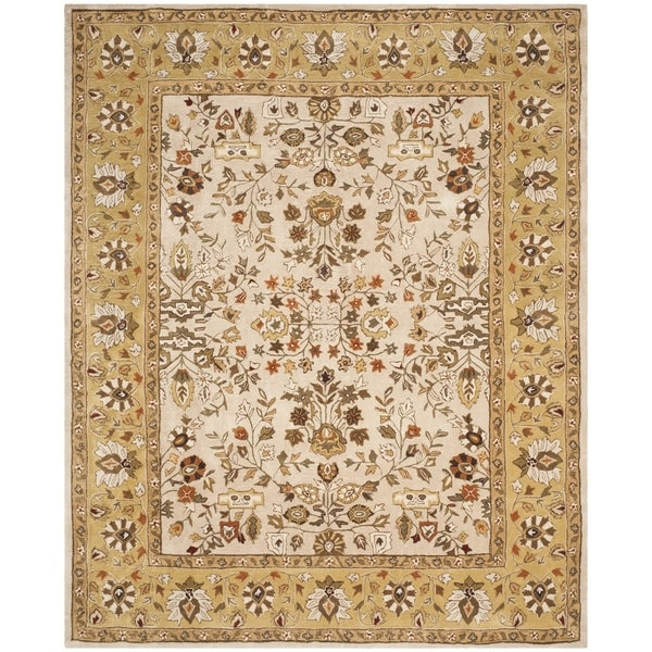 Safavieh Hand-hooked Total Perform Ivory/ Gold Acrylic Rug - 8' x 10'