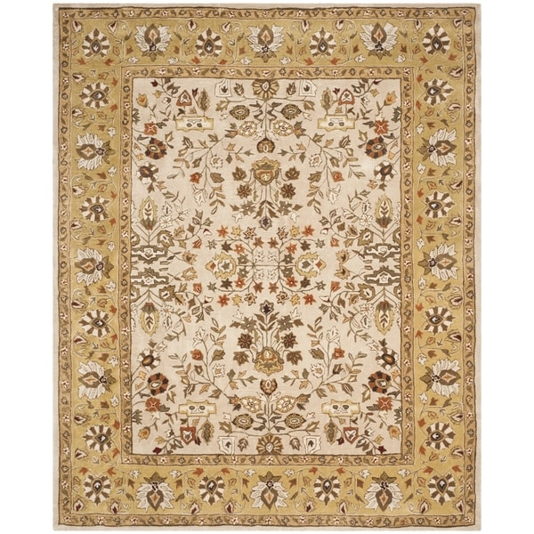 Safavieh Hand-hooked Total Perform Ivory/ Gold Acrylic Rug - 9' x 12'