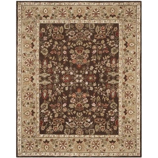 Safavieh Hand-hooked Total Perform Brown/ Green Acrylic Rug (8' x 10')