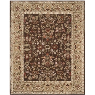Safavieh Hand-hooked Total Perform Brown/ Green Acrylic Rug (9' x 12')