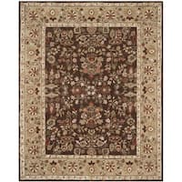Safavieh Hand-hooked Total Perform Brown/ Green Acrylic Rug - 9' x 12'