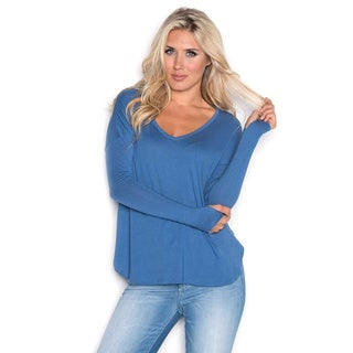 Beam Women's Blue Long-sleeve T-shirt