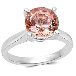 Noori 14k White Gold 2 1/4ct TGW Morganite Solitaire Engagement Ring