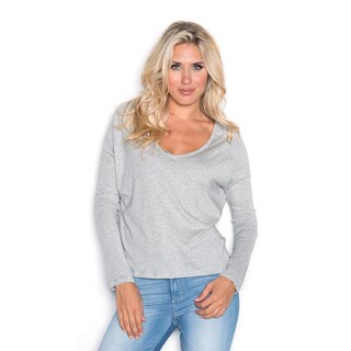 Beam Women's Solid Grey Long-sleeve T-shirt
