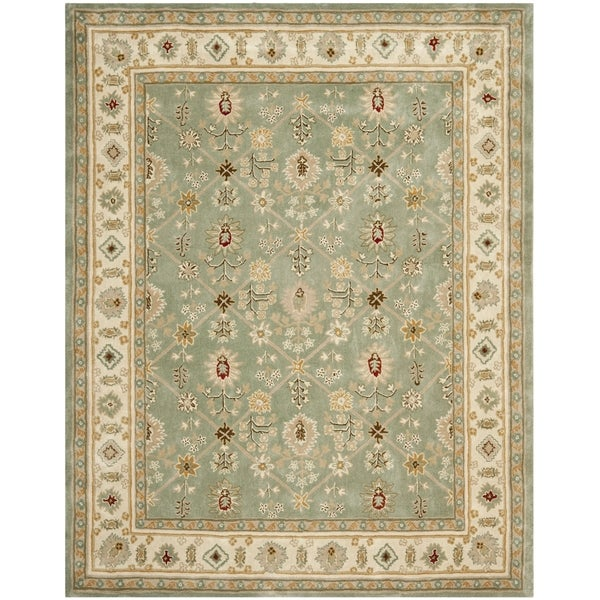 Safavieh Hand-hooked Total Perform Green/ Ivory Acrylic Rug - 8' x 10'