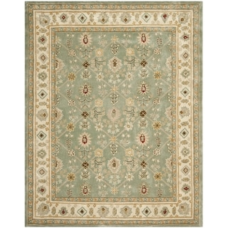 Safavieh Hand-hooked Total Perform Green/ Ivory Acrylic Rug (9' x 12')