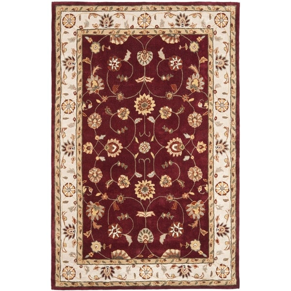 Safavieh Hand-hooked Total Perform Red/ Ivory Acrylic Rug (8' x 10')
