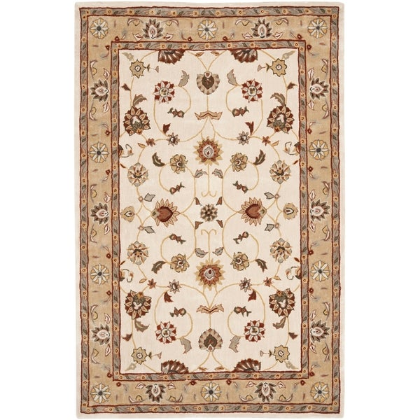 Safavieh Hand-hooked Total Perform Ivory/ Beige Acrylic Rug - 8' x 10'