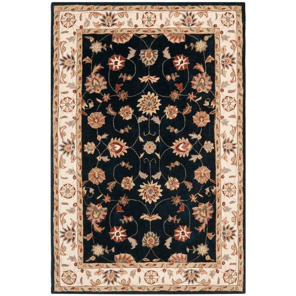 Safavieh Hand-hooked Total Perform Navy/ Ivory Acrylic Rug - 9' x 12'