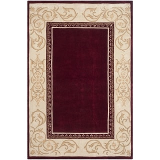 Safavieh Hand-hooked Total Perform Burgundy/ Ivory Acrylic Rug (8' x 10')