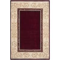 Safavieh Hand-hooked Total Perform Burgundy/ Ivory Acrylic Rug - 8' x 10'