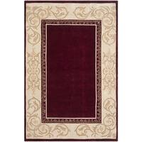 Safavieh Hand-hooked Total Perform Burgundy/ Ivory Acrylic Rug (9' x 12')