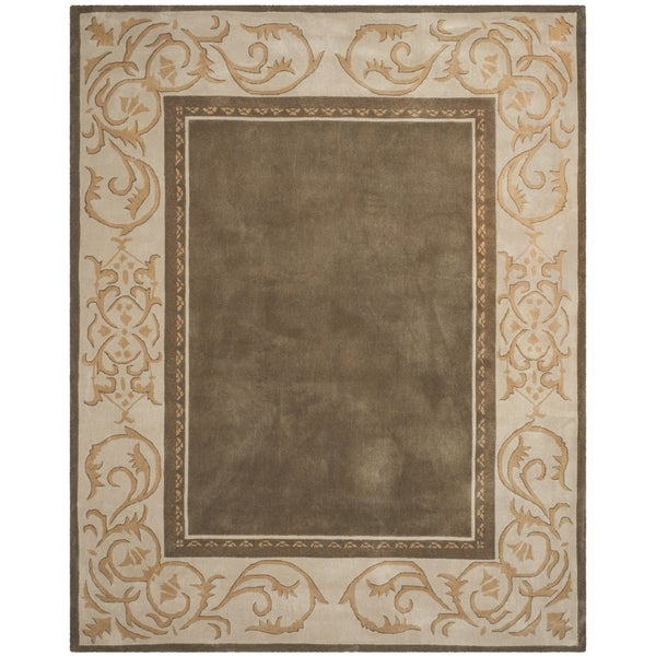 Safavieh Hand-hooked Total Perform Olive/ Ivory Acrylic Rug - 9' x 12'