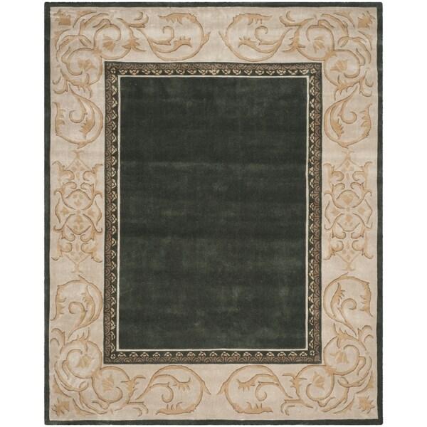 Safavieh Hand-hooked Total Perform Slate/ Ivory Acrylic Rug (8' x 10')