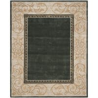 Safavieh Hand-hooked Total Perform Slate/ Ivory Acrylic Rug - 9' x 12'