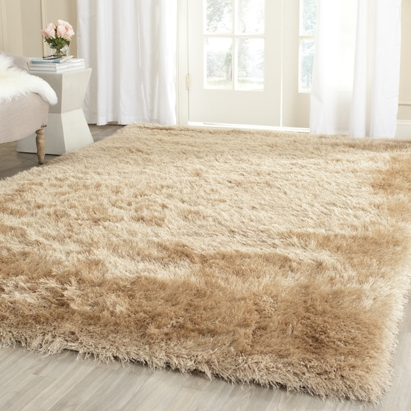 """Safavieh Hand-Knotted Thom Filicia Champagne Wool Rug - 8'6"""" x 12'"""