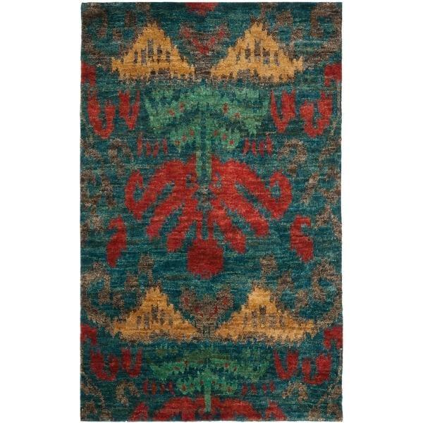 Safavieh Hand-Knotted Thom Filicia Aqua Sky Wool Rug - 9' x 12'
