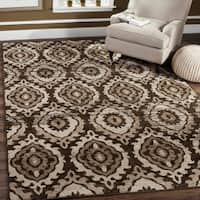 Safavieh Tunisia Brown/ Cream Rug - 9' x 12'