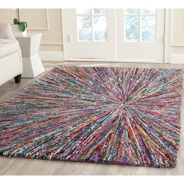 Safavieh Handmade Nantucket Modern Abstract Multicolored Cotton Rug - multi - 9' x 12'