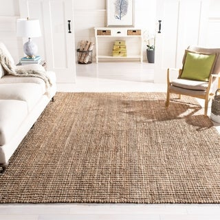 Safavieh Casual Natural Fiber Hand-Woven Natural / Grey Chunky Thick Jute Rug (8' x 10')