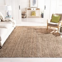 Safavieh Casual Natural Fiber Hand-Woven Natural / Grey Chunky Thick Jute Rug - 8' x 10'