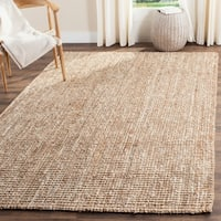 Safavieh Casual Natural Fiber Hand-Woven Natural / Ivory Chunky Thick Jute Rug - 8' x 10'
