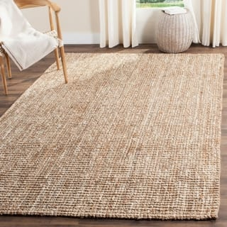 Safavieh Casual Natural Fiber Hand Woven Ivory Chunky Thick Jute Rug 9