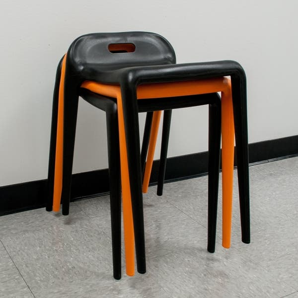 pretty nice 24698 fda57 Shop Mod Made E-Z Modern 22-inch High Stacking Stool Chair ...