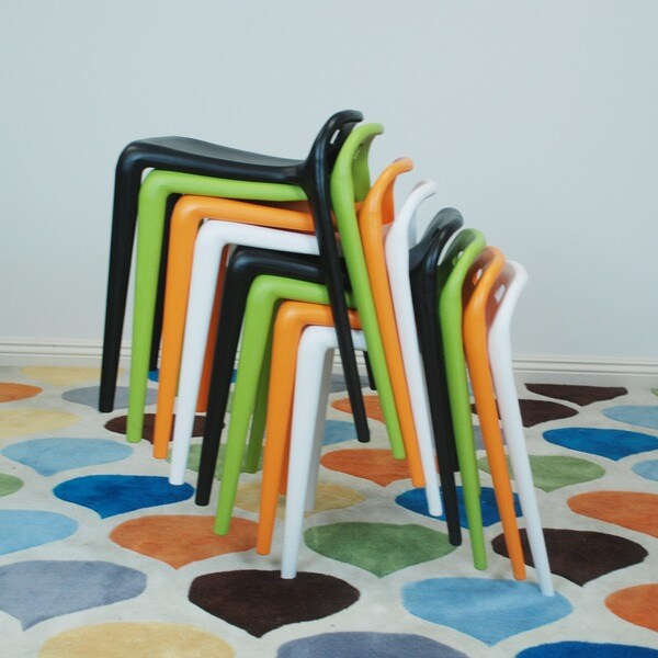 Mod Made E Z Modern Stacking Stool Chair Set Of 2