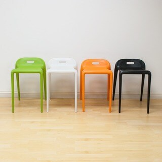 Mod Made E-Z Modern 22-inch High Stacking Stool Chair (Set of 2)
