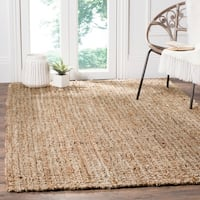 Safavieh Casual Natural Fiber Hand-Woven Natural/ Multi Jute Rug - 9' x 12'