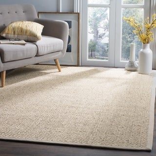 Safavieh Casual Natural Fiber Hand-Woven Marble Sisal Rug (10' x 14')