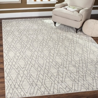 Safavieh Tunisia Ivory/ Light Grey Rug (9' x 12')