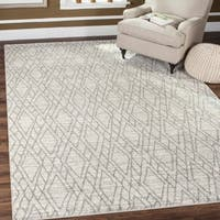 Safavieh Tunisia Ivory/ Light Grey Rug - 9' X 12'