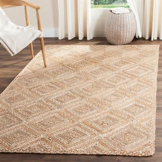 Safavieh Casual Natural Fiber Hand-Woven Natural Jute Rug (9' x 12')|https://ak1.ostkcdn.com/images/products/11740953/P18658360.jpg?impolicy=medium