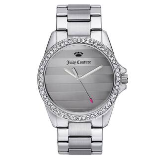 Juicy Couture Women's Silvertone Stainless Steel Japanese Quartz Watch|https://ak1.ostkcdn.com/images/products/11741163/P18658542.jpg?impolicy=medium