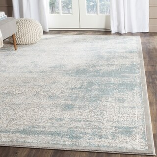 Safavieh Passion Watercolor Turquoise/ Ivory Distressed Rug (10' x 14')