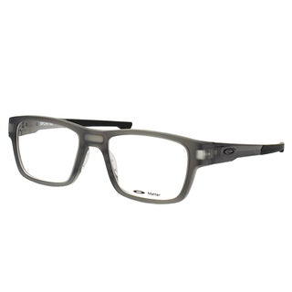 Oakley Splinter OX8077-0252 Satin Grey Smoke Plastic Rectangle 52mm Eyeglasses