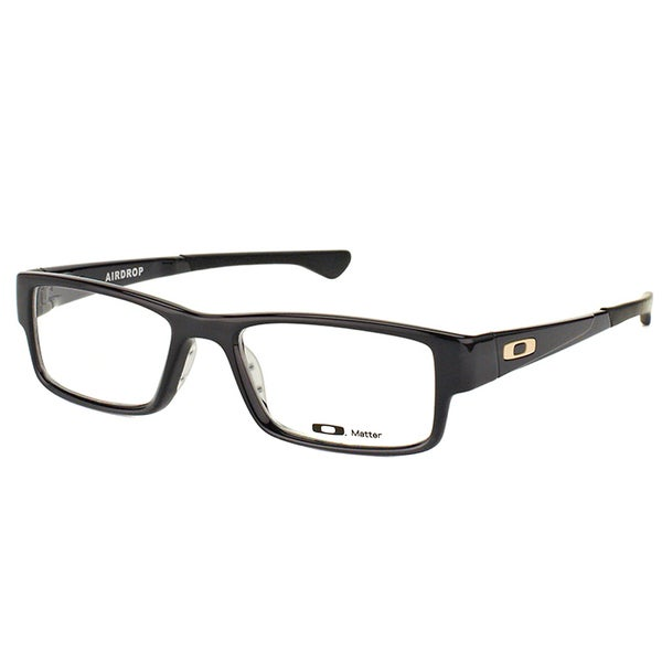 f1404cee3d2 Oakley Airdrop OX8046-0255 Black Ink Plastic Rectangle 55mm Eyeglasses