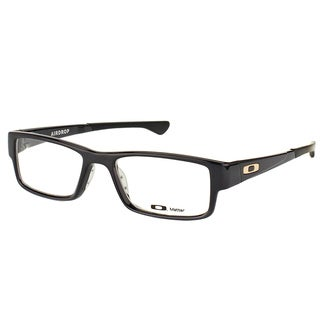 Oakley Airdrop OX8046-0255 Black Ink Plastic Rectangle 55mm Eyeglasses