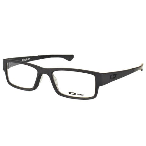 Oakley Airdrop OX8046-0153 Satin Black Plastic Rectangle 53mm Eyeglasses